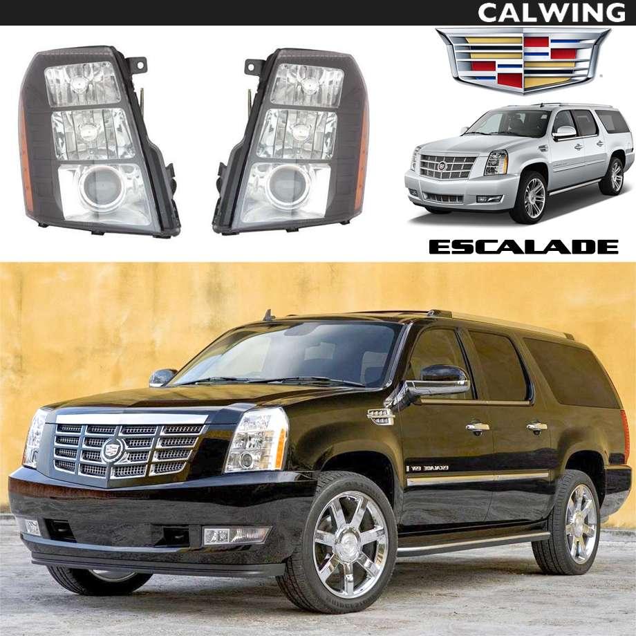 【売り切り特価!】ヘッドライトセット インナーブラック ブラックベゼル アフターマーケットパーツ | Cadillac/キャデラック ESCALADE/エスカレード '07-'14y 【アメ車パーツ】