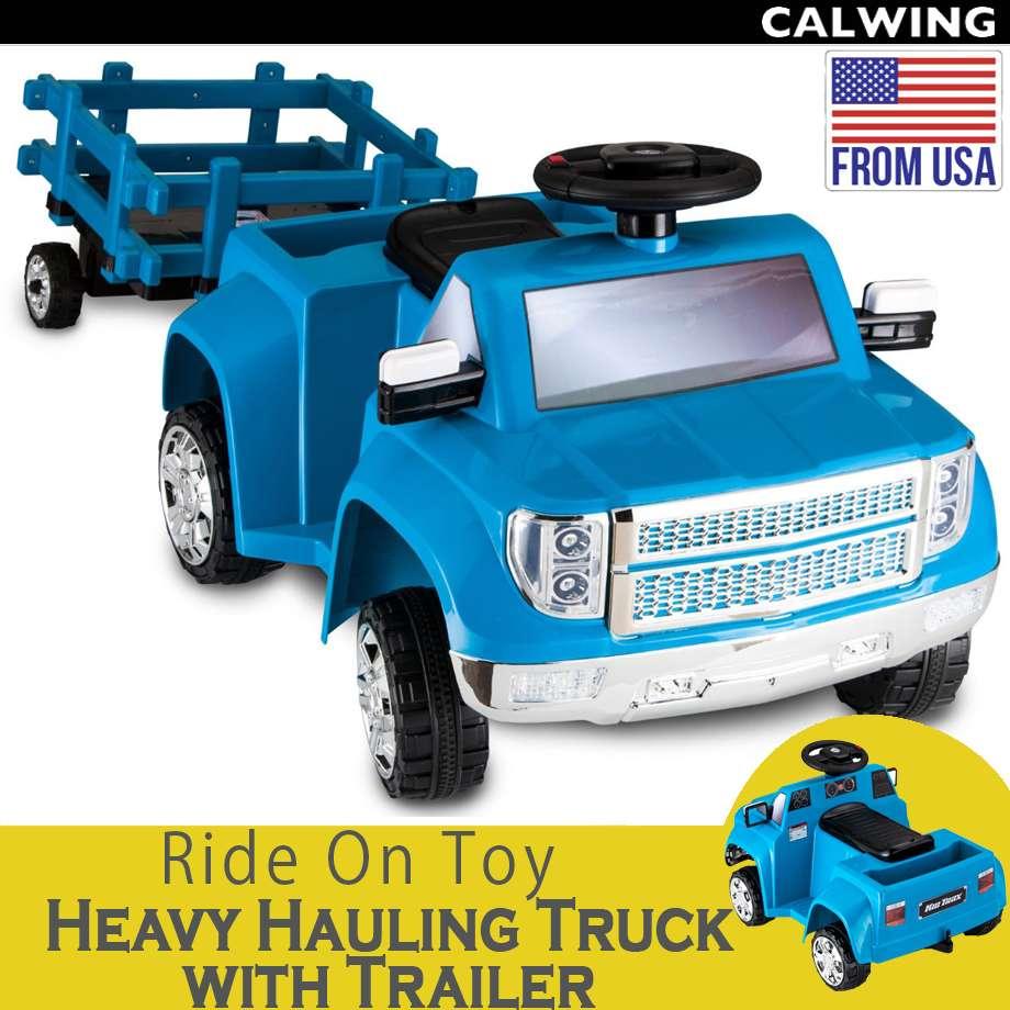 電動乗用トイ HEAVY HAULING TRUCK WITH TRAILER/ヘビーハウラートラック トレーラー付き 6Vバッテリー付属