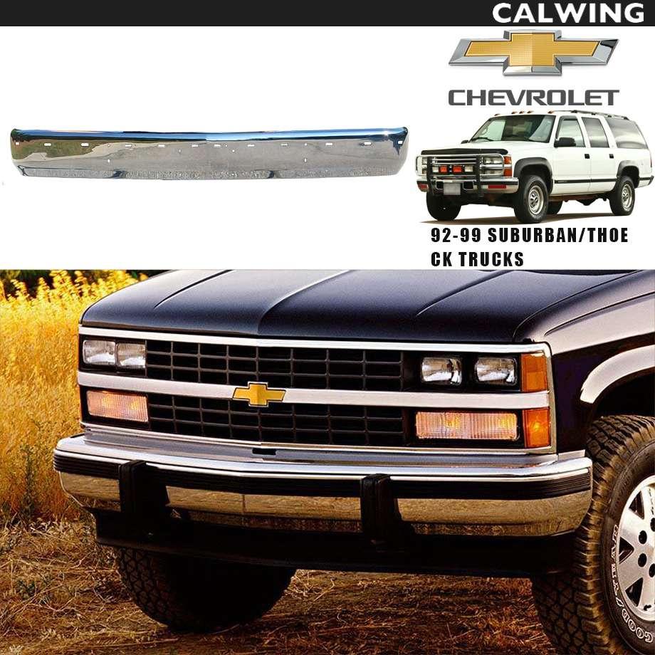 CHEVY TAHOE/タホ SUBURBAN/サバーバン C/Kトラック(C-1500・K-1500) フロントバンパー クローム アフターマーケットパーツ '92y~'99y【アメ車パーツ】