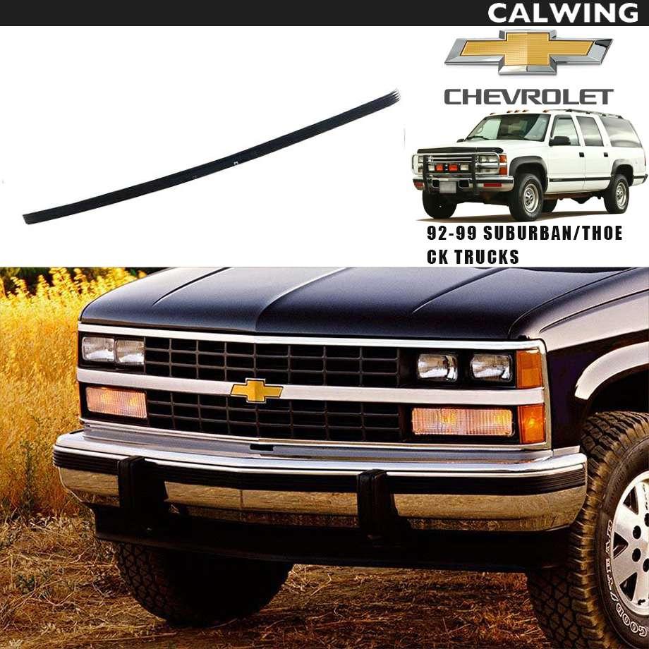 CHEVY TAHOE/タホ SUBURBAN/サバーバン C/Kトラック(C-1500・K-1500) フロントバンパーモール カーゴ ブラック '92y-'99y【アメ車パーツ】