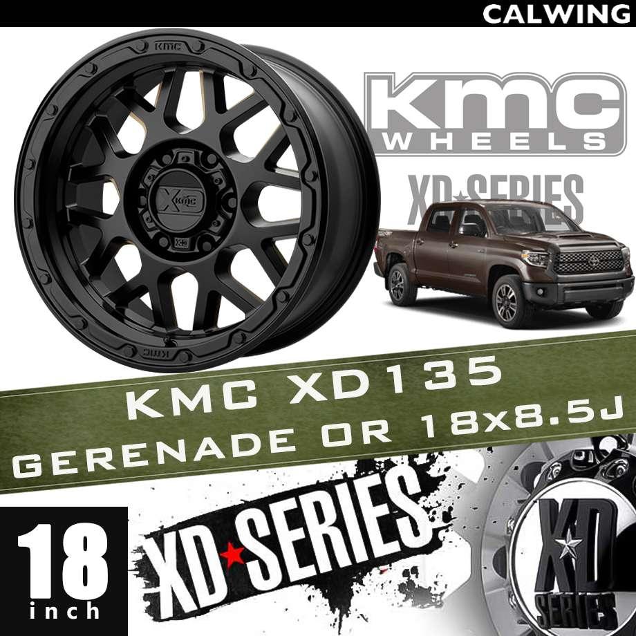 【正規品】オフロードホイール XD135 GRENADE OR マットブラック 18x8.5J PCD 5x150 1本 KMC