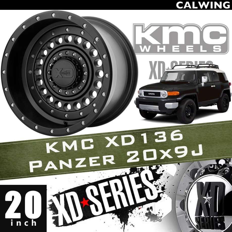 【正規品】オフロードホイール XD136 PANZER サテンブラック 20x9J PCD 5x127/139.7 1本 KMC