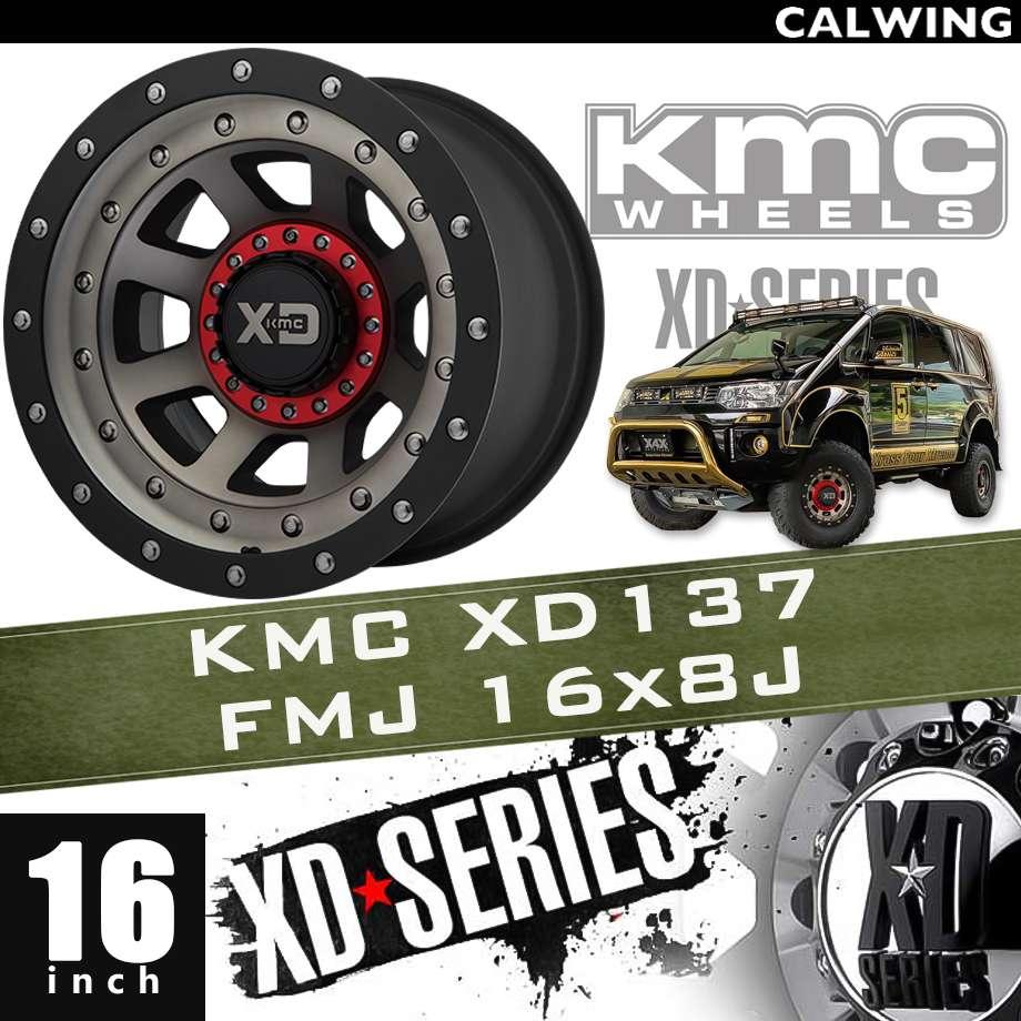 【正規品】オフロードホイール XD137 FMJ サテン ブラックマシン ダーククリアーコート ブラックリップ 16x8J PCD 5x114.3/127 1本 KMC