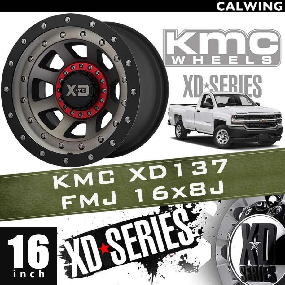 【正規品】オフロードホイール XD137 FMJ サテン ブラックマシン ダーククリアーコート ブラックリップ 16x8J PCD 6x120/139.7 1本 KMC