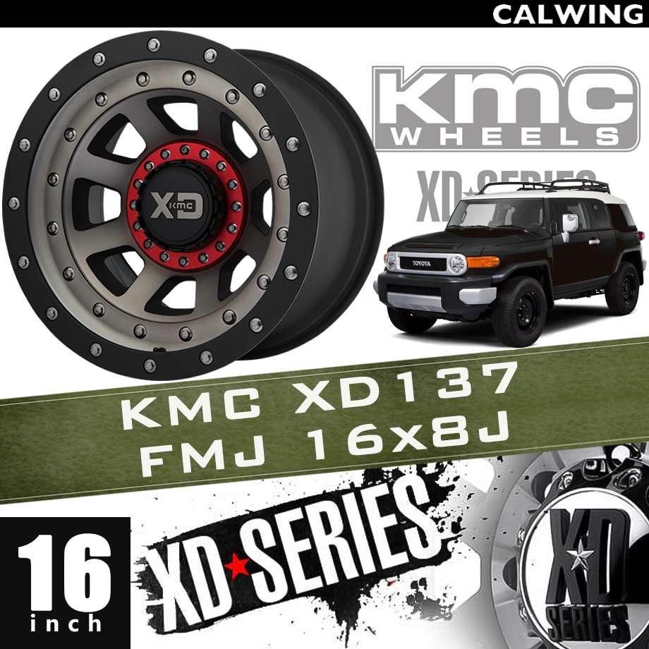 【正規品】オフロードホイール XD137 FMJ サテン ブラックマシン ダーククリアーコート ブラックリップ 16x8J PCD 6x139.7 1本 KMC