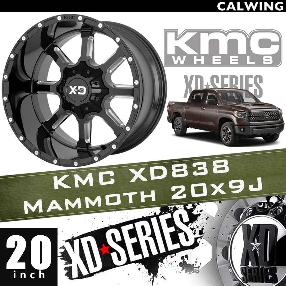 【正規品】オフロードホイール XD838 MAMMOTH グロスブラックミルド 20x9J PCD 5x150 1本 KMC