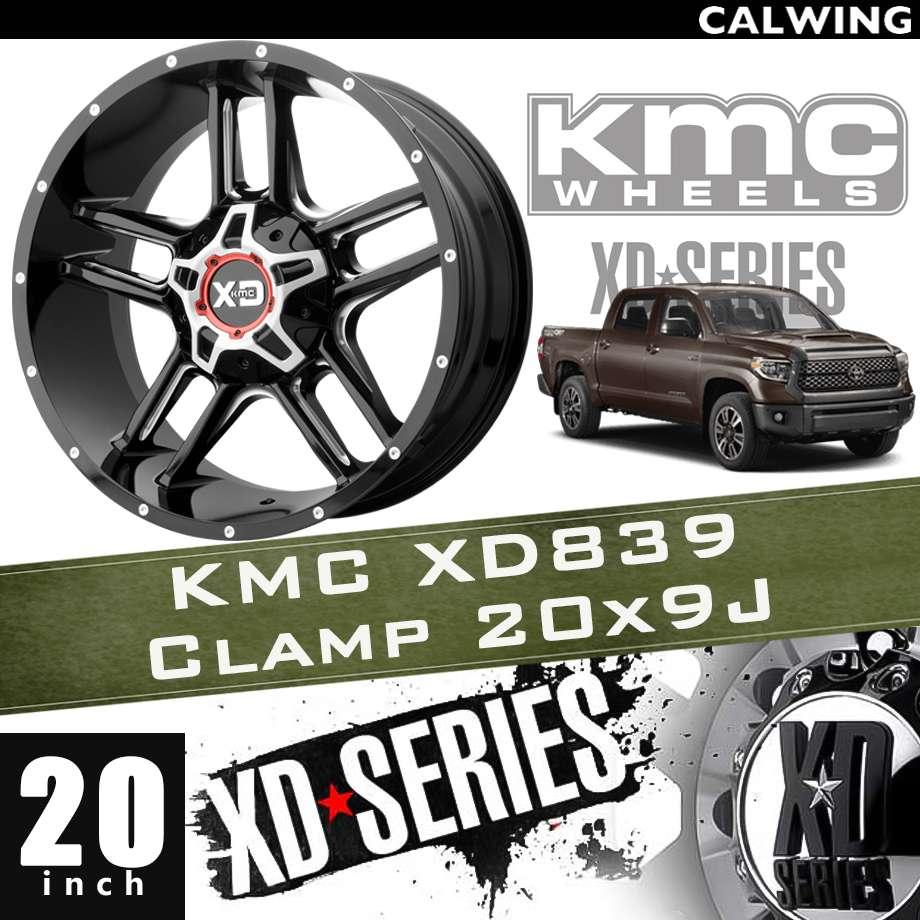 【正規品】オフロードホイール XD839 CLAMP グロスブラックミルド 20x9J PCD 5x139.7/150 1本 KMC
