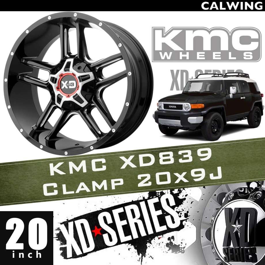 【正規品】オフロードホイール XD839 CLAMP グロスブラックミルド 20x9J PCD 6x135/139.7 1本 KMC