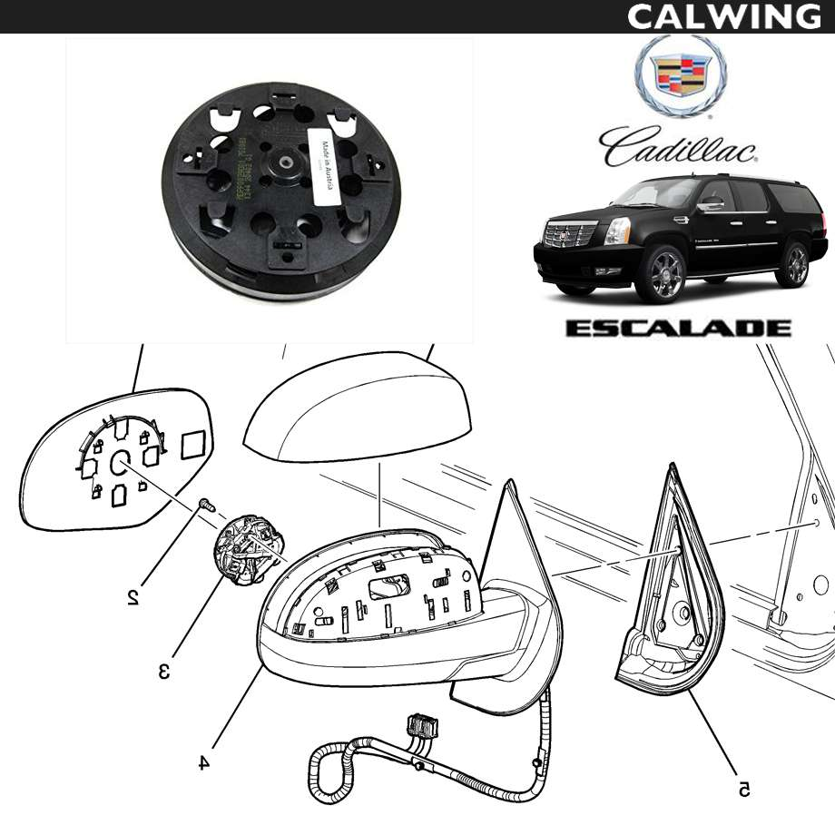 CADILLAC/キャデラック エスカレード '07y-'14y | ドアミラー アクチュエーター 右 4ピン GM純正 【アメ車パーツ】