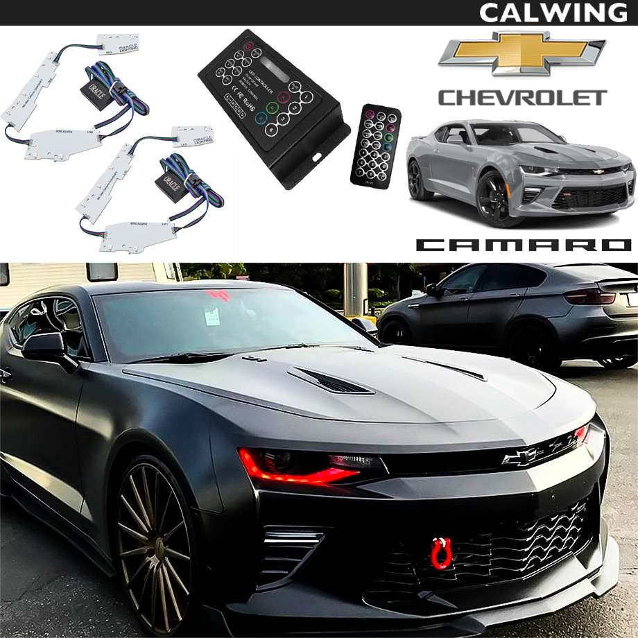 CHEVROLET/シボレー CAMARO/カマロ '16y~'18y   カラーシフト 2.0 LED デイライト DRL アップグレードキット ワイヤレスリモコン付きColorShift 2.0プログラミングコントローラー 付属 ORACLE/オラクル【アメ車パーツ】