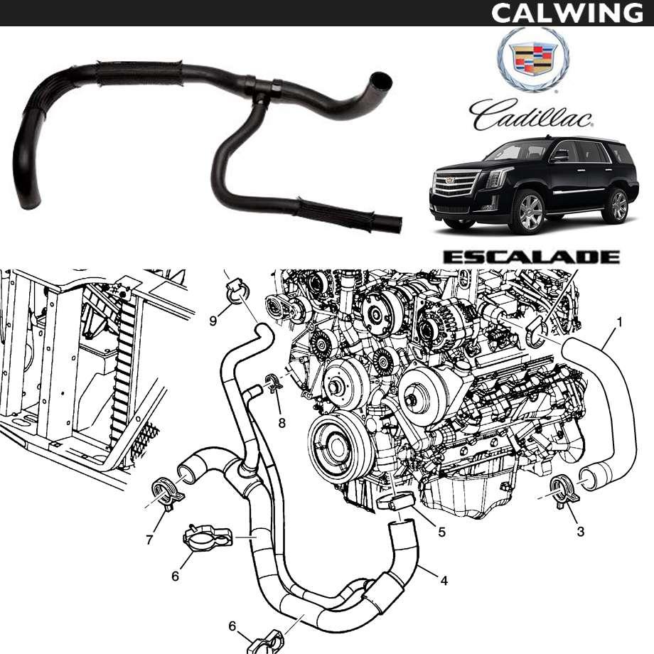 CADILLAC/キャデラック エスカレード '15y~ | ラジエーターホース ロア側 【アメ車パーツ】
