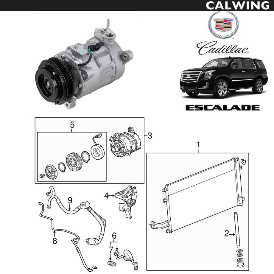 CADILLAC/キャデラック エスカレード '15y~'17y | A/Cコンプレッサー ACDelco 【アメ車パーツ】