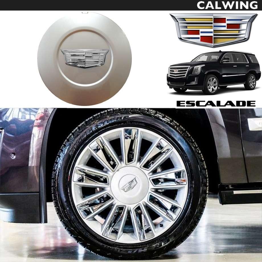 Cadillac/キャデラック ESCALADE/エスカレード '15y~'19y | ホイールセンターキャップ 1枚 シルバー クロームエンブレム 22インチホイール用 GM純正品 【アメ車パーツ】