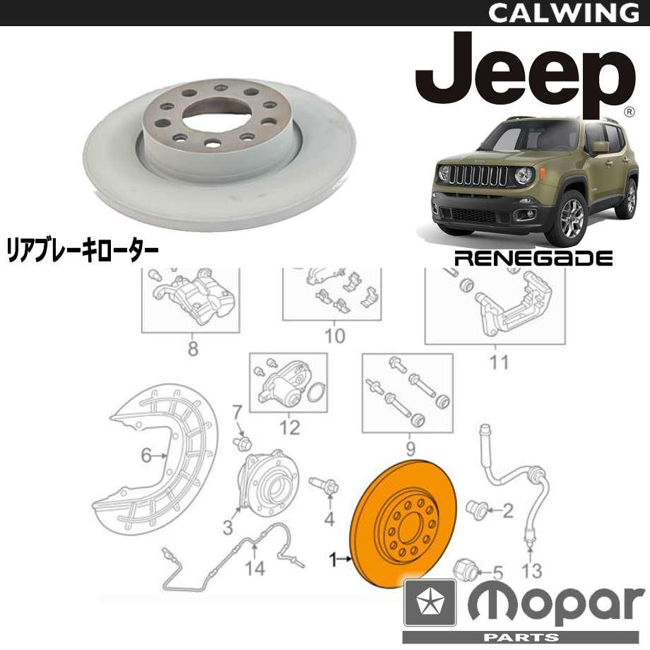 JEEP/ジープ RENEGADE/レネゲード '15y- | リア ブレーキディスクローター MOPAR純正品 【アメ車パーツ】