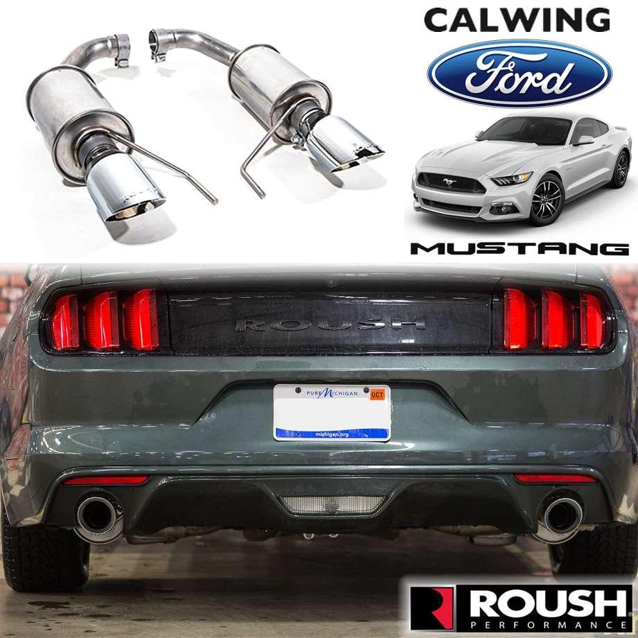 FORD/フォード MUSTANG/マスタング '15y-'17y | 3.7L V6/2.3L エコブースト用 アクスルバックマフラー デュアルエキゾースト シングルチップ ROUSH/ラウシュ【アメ車パーツ】