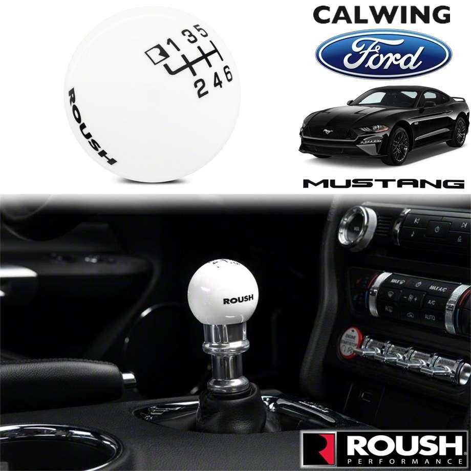 FORD/フォード MUSTANG/マスタング '15y-'19y | シフトノブ ラウシュロゴ入り クラシックタイプ ホワイト ROUSH/ラウシュ【アメ車パーツ】