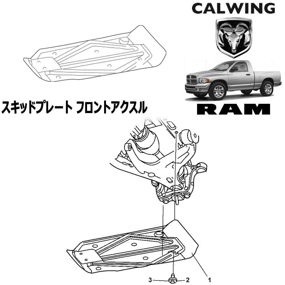 ラムピックアップ '02y-'05y   スキッドプレート フロントアクスル MOPAR純正品 【アメ車パーツ】