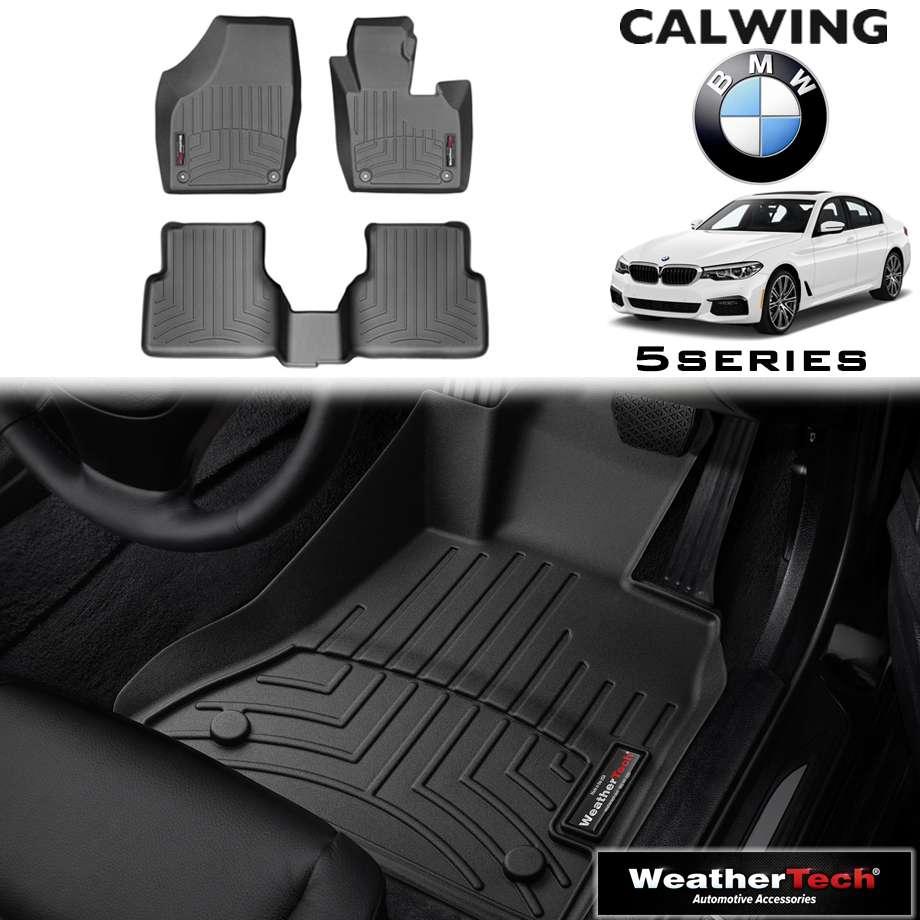 【車種専用設計】BMW 5シリーズ G30/G31 '18y- | フロアマット ブラック フロアライナー 右ハンドル 4PC WeatherTech【欧州車パーツ】