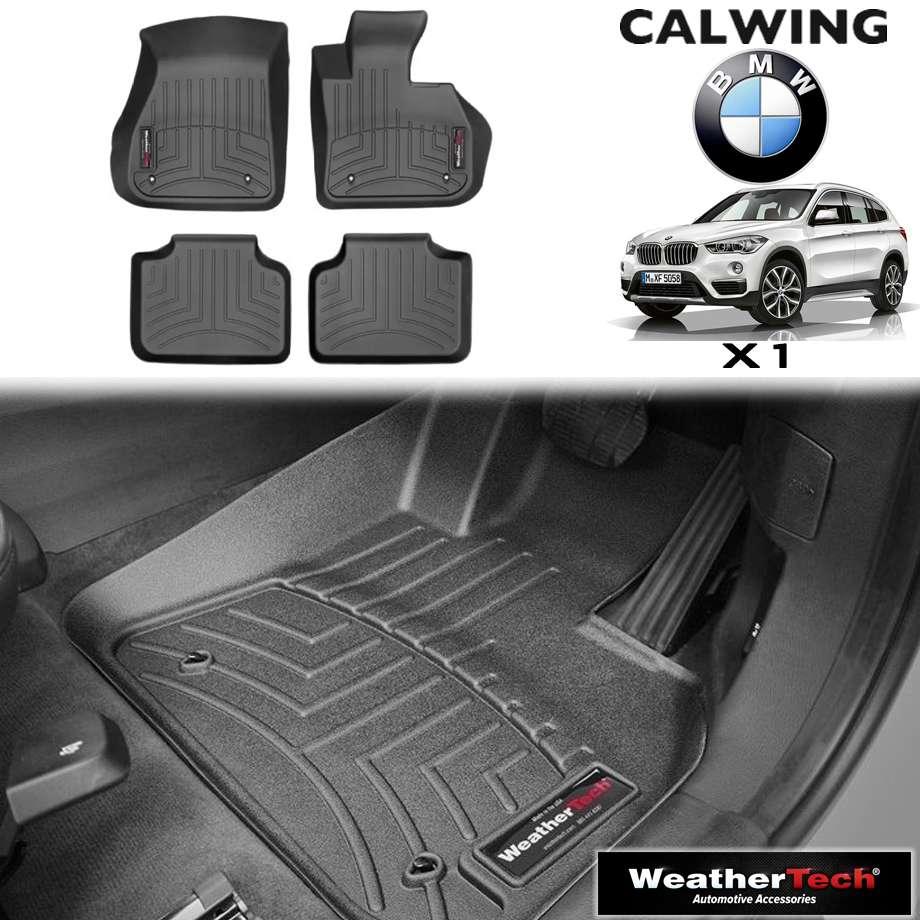 【車種専用設計】BMW X1 XI/XDRIVE '14y- | フロアマット ブラック フロアライナー 右ハンドル 4PC WeatherTech【欧州車パーツ】