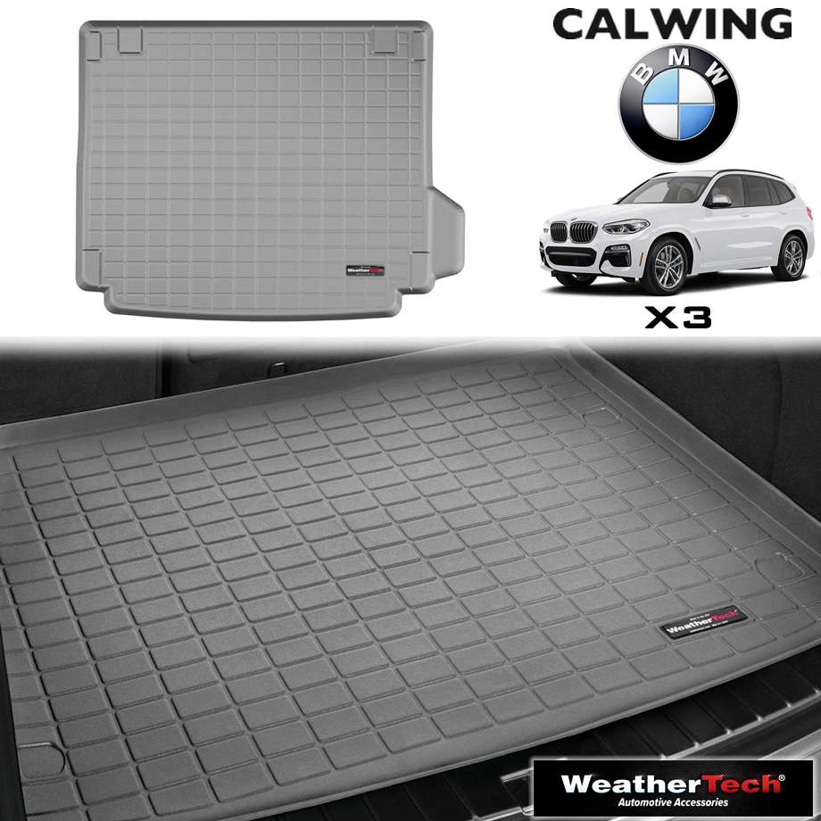 【車種専用設計】BMW X3 '18y- | カーゴマット カーゴライナー グレー スペアタイヤコンパートメント無し車用 WeatherTech【欧州車パーツ】