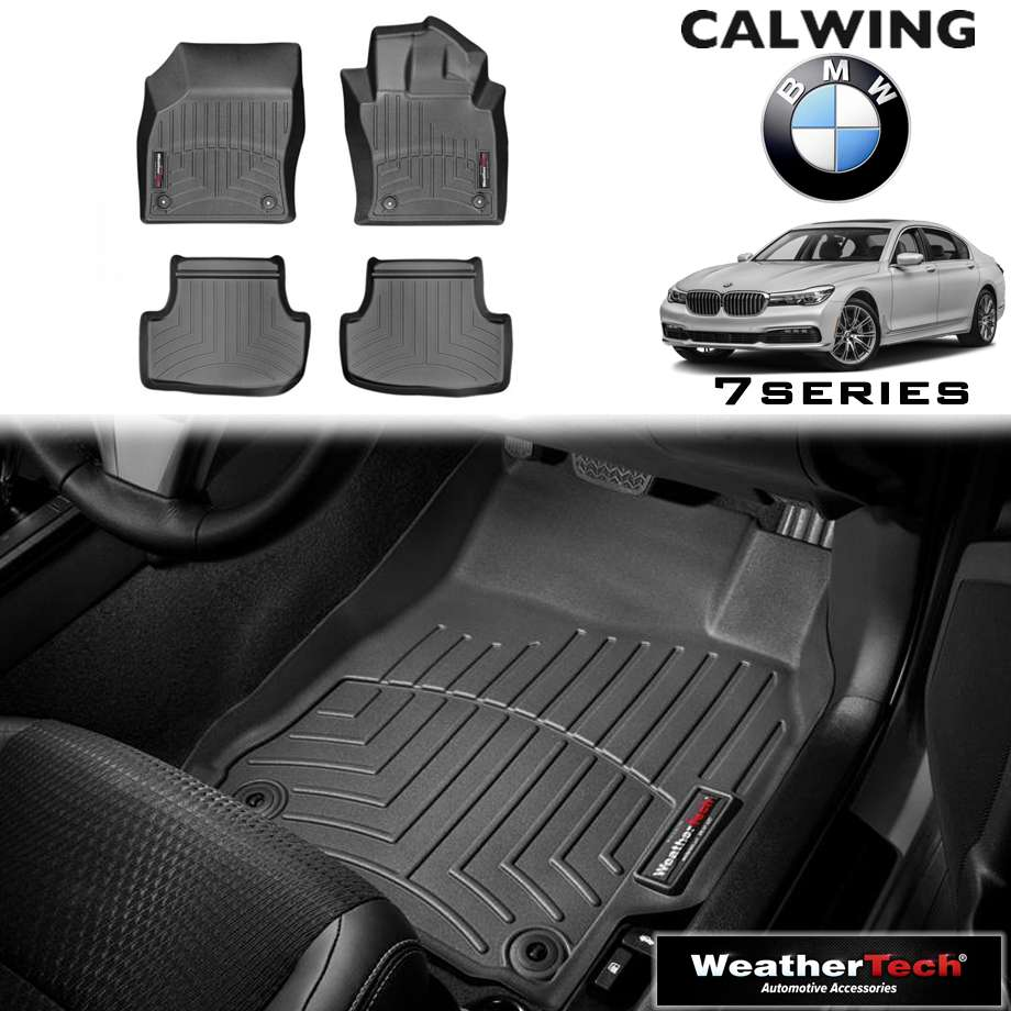 【車種専用設計】BMW 7シリーズ G11/G12 I '16y-'18y | フロアマット ブラック フロアライナー 右ハンドル 4PC WeatherTech【欧州車パーツ】