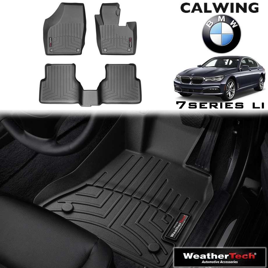 【車種専用設計】BMW 7シリーズ G11/G12 LI '16y-'18y | フロアマット ブラック フロアライナー 右ハンドル 4PC WeatherTech【欧州車パーツ】