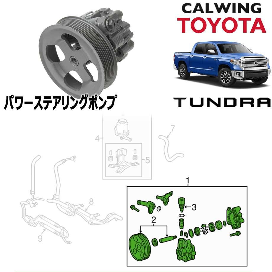 TOYOTA/トヨタ TUNDRA/タンドラ '07y-'18y | パワーステアリングポンプ TOYOTA純正品【逆輸入車パーツ】