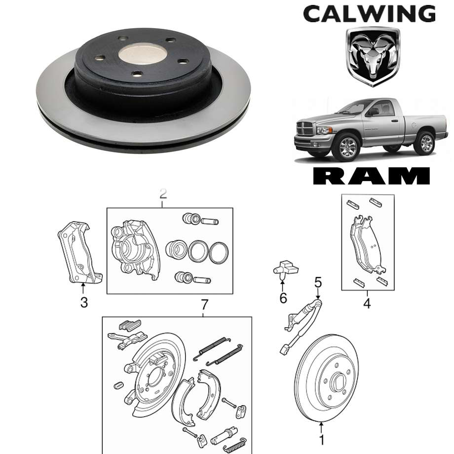 RAM TRUCKS/ラムトラックス ラムピックアップ 1500 '02y-'08y   ブレーキローター リア ACデルコ【アメ車パーツ】