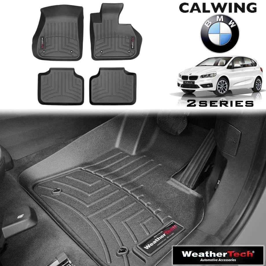 【車種専用設計】BMW 2シリーズ アクティブツアラー '14y- | フロアマット ブラック フロアライナー 右ハンドル 4PC WeatherTech【欧州車パーツ】