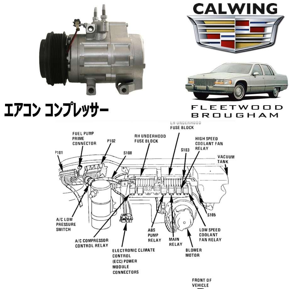 CADILLAC/キャデラック フリートウッドブロアム '94y-'96y   エアコンコンプレッサー アフターマーケットパーツ【アメ車パーツ】