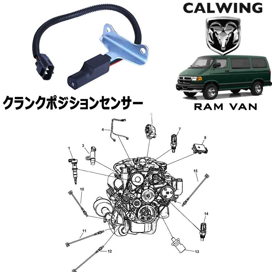 DODGE/ダッジ RAM VAN/ラムバン '98y-'03y | クランクポジションセンサー MOPAR純正品【アメ車パーツ】