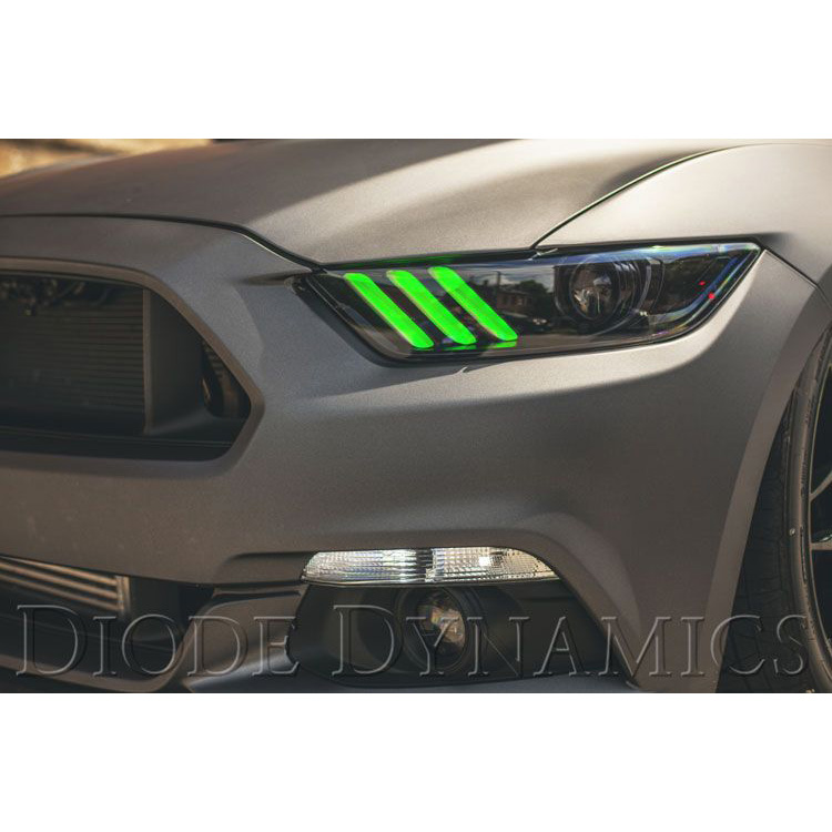 【マスタングカスタム】FORD MUSTUNG フォード マスタング ブルートゥースでお好みのカラーに調整 LED デイライトキット ダイオードダイナミクス/DIODEDYNAMICS マルチカラー '15y-'17y【アメ車パーツ】