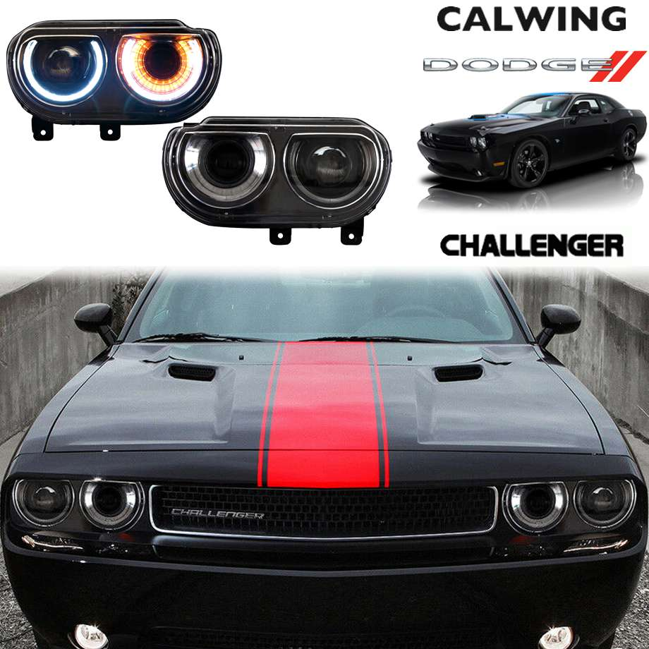 DODGE/ダッジ CHALLENGER/チャレンジャー '09y-'14y   DRL プロジェクターヘッドライト カスタムヘッドライト【アメ車パーツ】