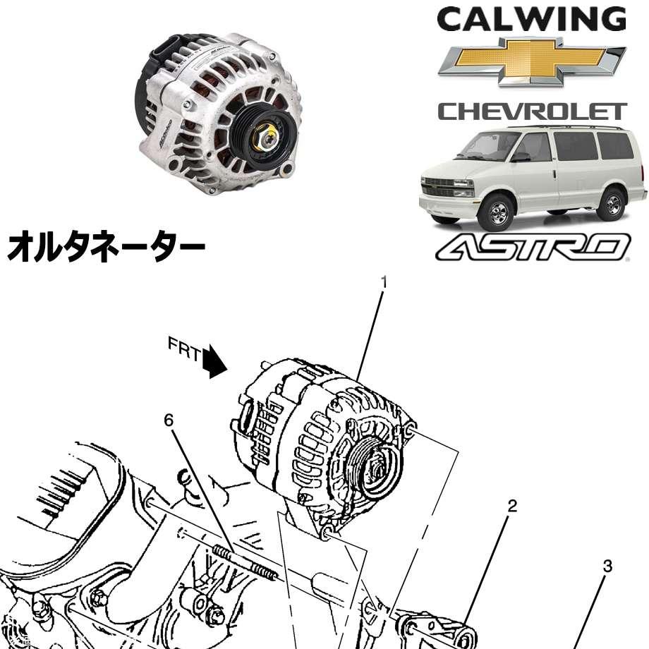 CHEVORET/シボレー ASTRO/アストロ '01y-'05y | オルタネーター ACデルコ【アメ車パーツ】