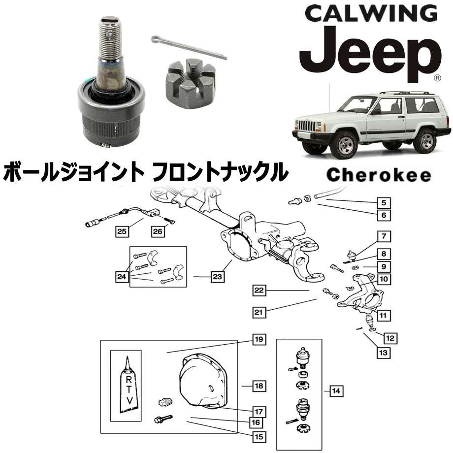 JEEP/ジープ CHEROKEE/チェロキー '94y-'01y | ボールジョイント フロントナックル MOPAR純正【アメ車パーツ】