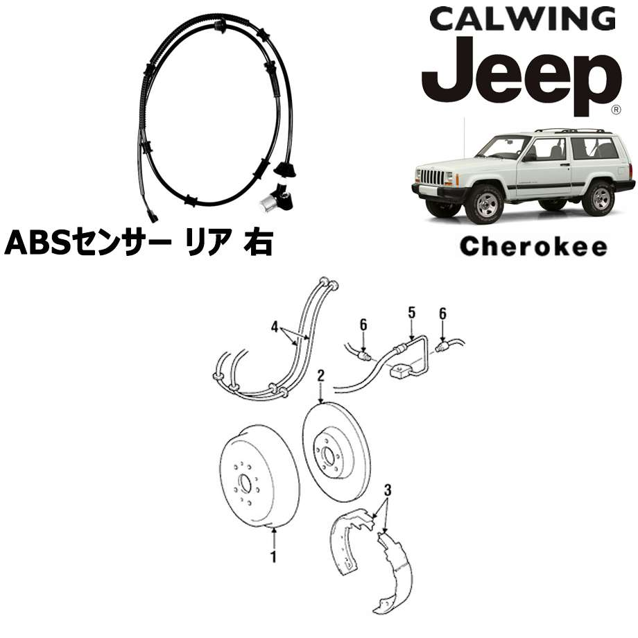 JEEP/ジープ CHEROKEE/チェロキー '94y-'01y | ABSセンサー リア 右 MOPAR純正【アメ車パーツ】