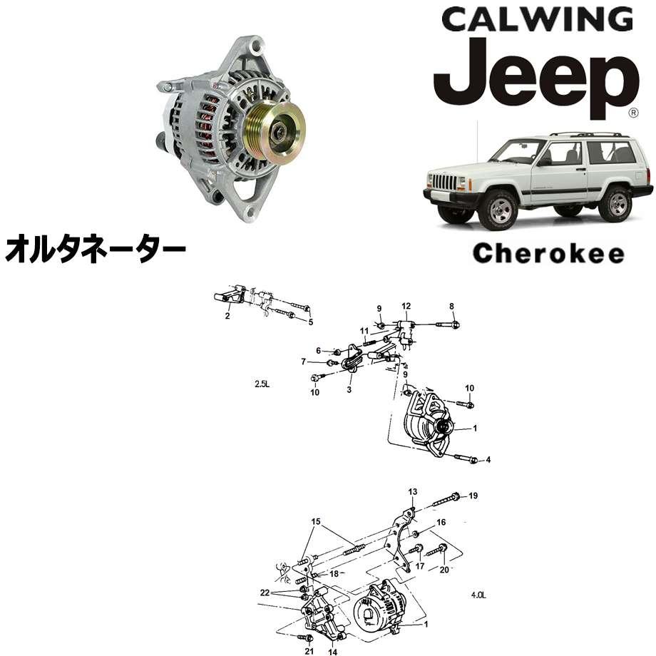 JEEP/ジープ CHEROKEE/チェロキー '94y-'01y | オルタネーター ジェネレーター MOPAR純正【アメ車パーツ】