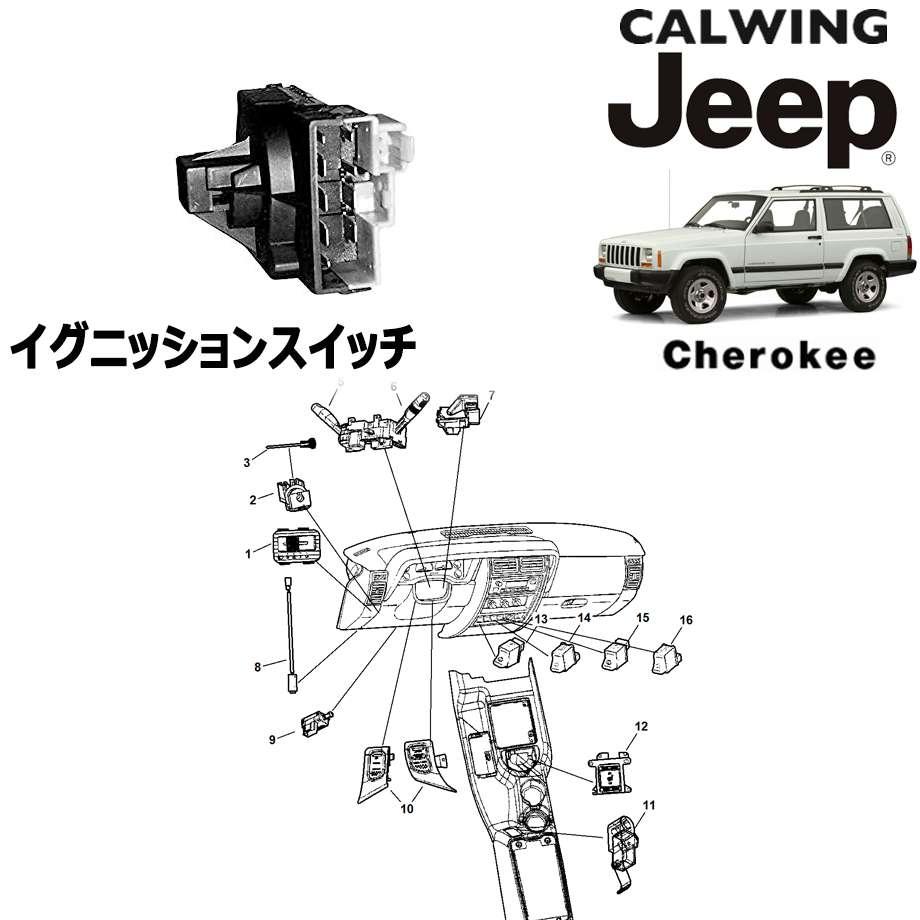 JEEP/ジープ CHEROKEE/チェロキー '94y-'01y | イグニッションスイッチ MOPAR純正【アメ車パーツ】