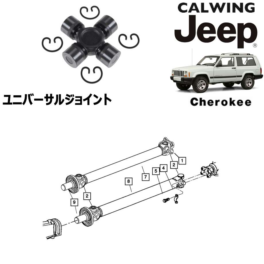 JEEP/ジープ CHEROKEE/チェロキー '94y-'01y | ユニバーサルジョイント フロント/リア MOPAR純正【アメ車パーツ】