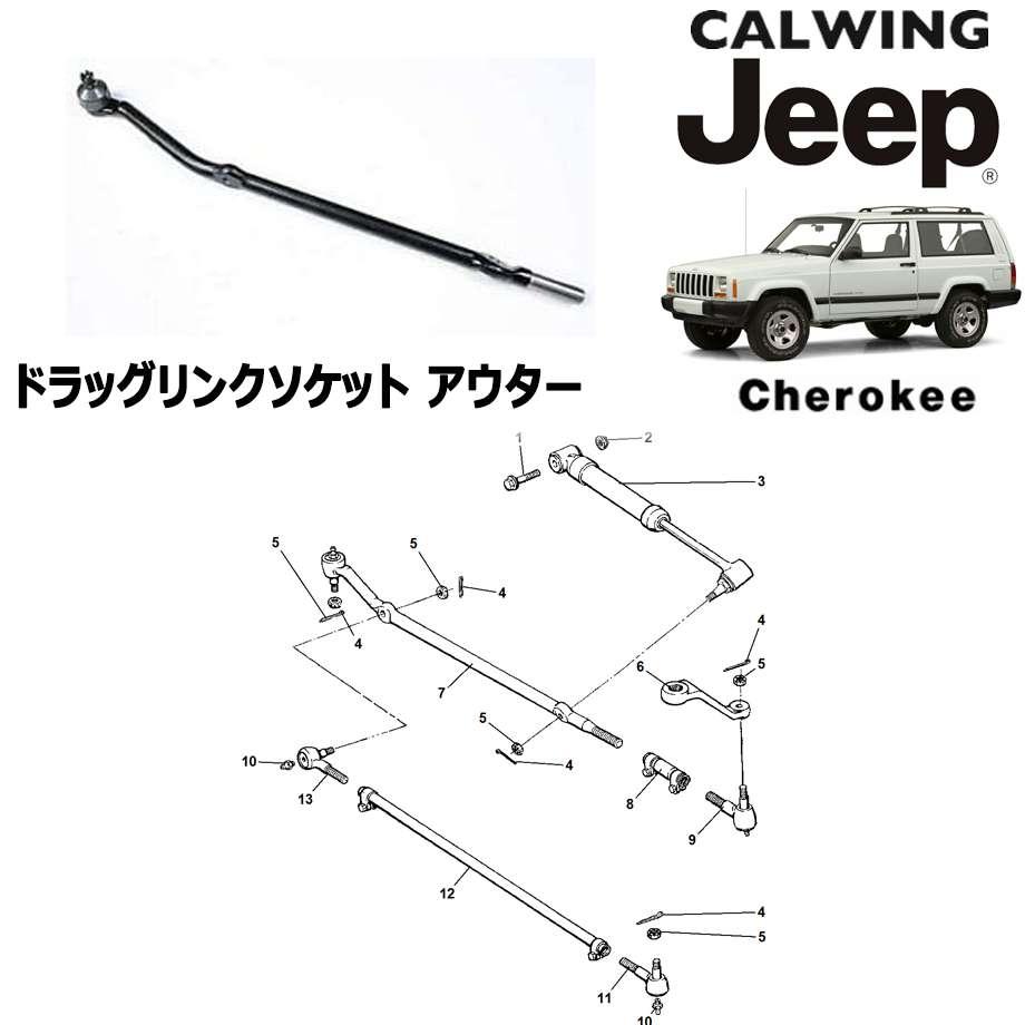 JEEP/ジープ CHEROKEE/チェロキー '94y-'01y | ステアリングタイロッド ドラッグリンクソケット アウター MOPAR純正【アメ車パーツ】