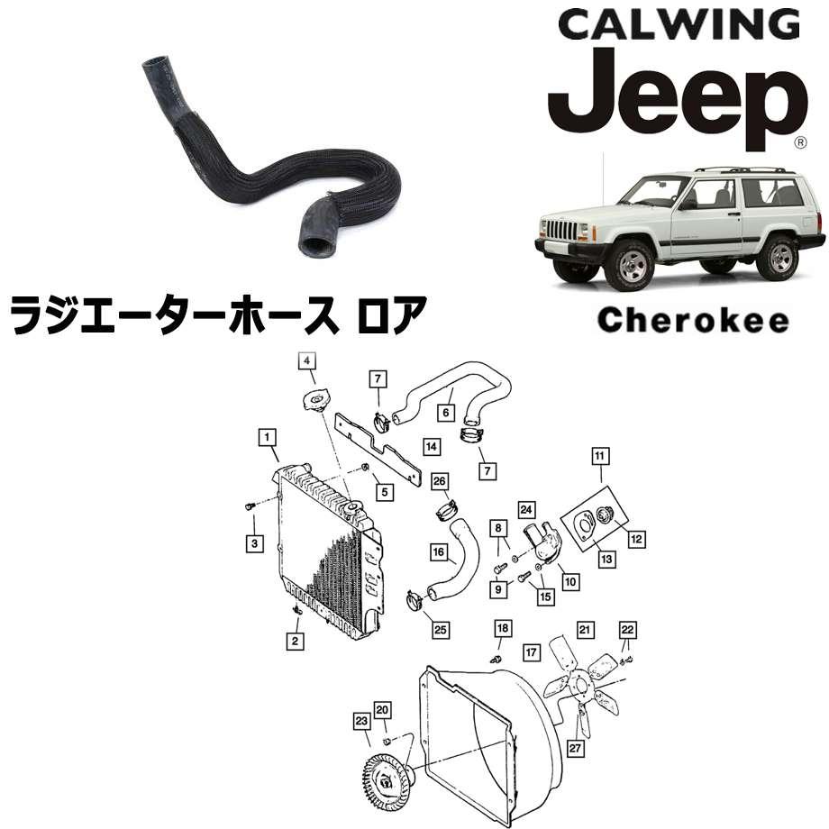JEEP/ジープ CHEROKEE/チェロキー '94y-'01y   ラジエーターホース ロア MOPAR純正【アメ車パーツ】