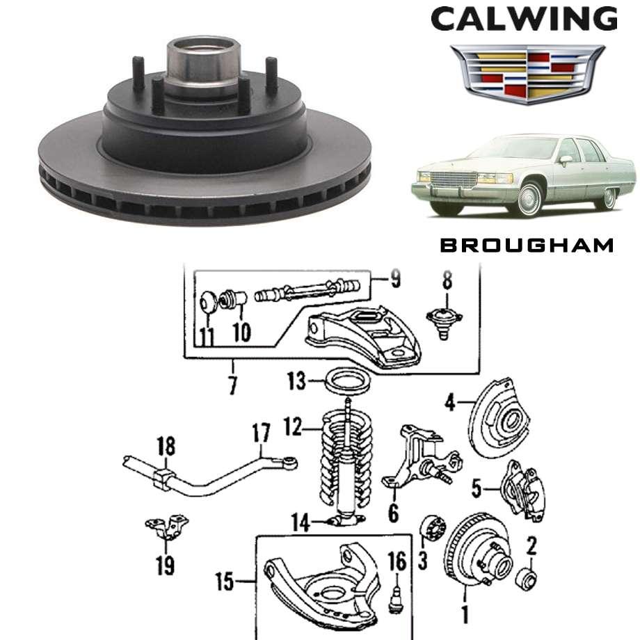 CADILLAC/キャデラック ブロアム '91y-'96y | ブレーキローター フロント ACデルコ【アメ車パーツ】