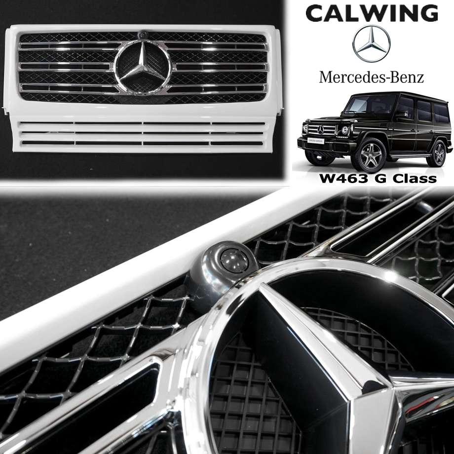 MERCEDES BENZ/メルセデス ベンツ Gクラス W463 '13y-'18y   19y G550スタイルグリル 960ホワイト/クロームメッキ【欧州車パーツ】