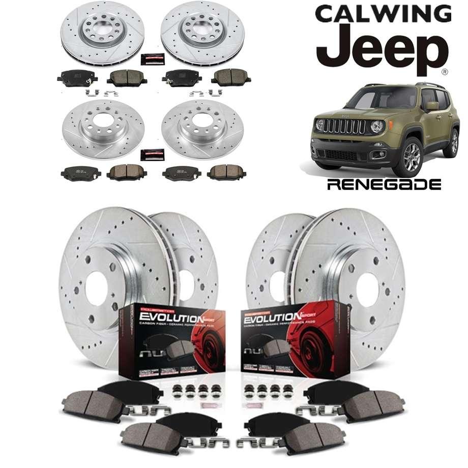 JEEP/ジープ RENEGADE/レネゲード '15y- | 強化ブレーキキット Z23 エボリューション スポーツエクストリームパフォーマンス ブレーキパッド/ローター F/R POWERSTOP/パワーストップ【アメ車パーツ】