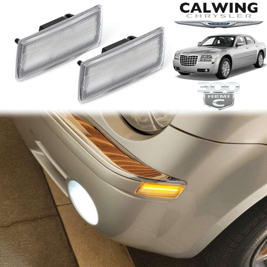 CHRYSLER/クライスラー 300C '05y-'10y | LEDサイドマーカー フロント クリア【アメ車パーツ】