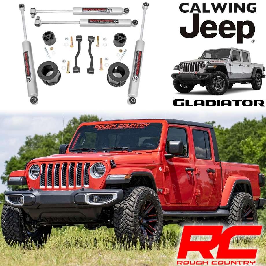 JEEP/ジープ GLADIATOR/グラディエーター JT '20y- | リフトアップスペーサーキット フロント2.5インチ N3ショック付き ROUGHCOUNTRY/ラフカントリー【アメ車パーツ】