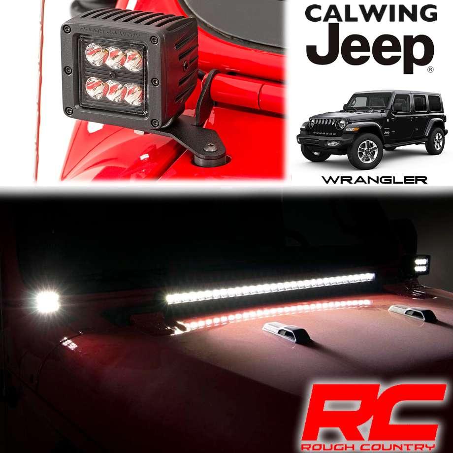 JEEP/ジープ WRANGLER/ラングラー JL '18y- | LEDポッドライトキット インナーブラック 2インチ ペア Aピラーマウント ROUGHCOUNTRY/ラフカントリー 【アメ車パーツ】