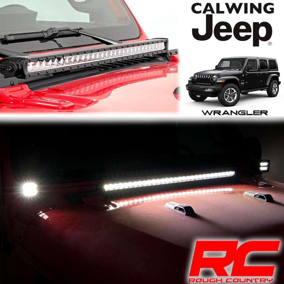 JEEP/ジープ WRANGLER/ラングラー JL '18y- | LEDフードライトキット インナークローム 30インチ ROUGHCOUNTRY/ラフカントリー【アメ車パーツ】