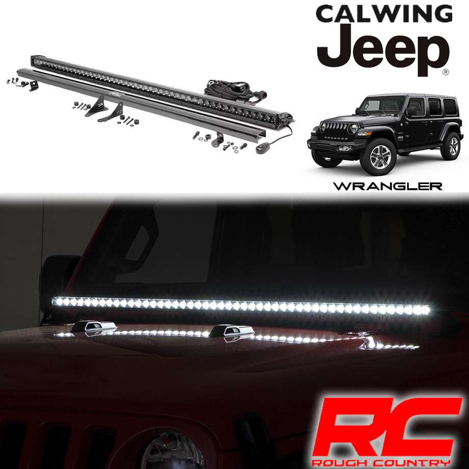 JEEP/ジープ WRANGLER/ラングラー JL '18y- | LEDフードライトキット インナーブラック 50インチ ROUGHCOUNTRY/ラフカントリー【アメ車パーツ】