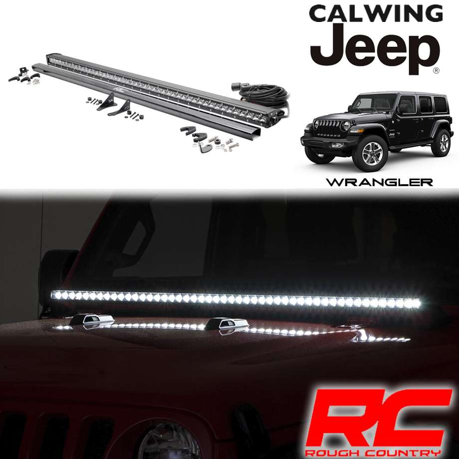 JEEP/ジープ WRANGLER/ラングラー JL '18y- | LEDフードライトキット インナークローム 50インチ ROUGHCOUNTRY/ラフカントリー【アメ車パーツ】